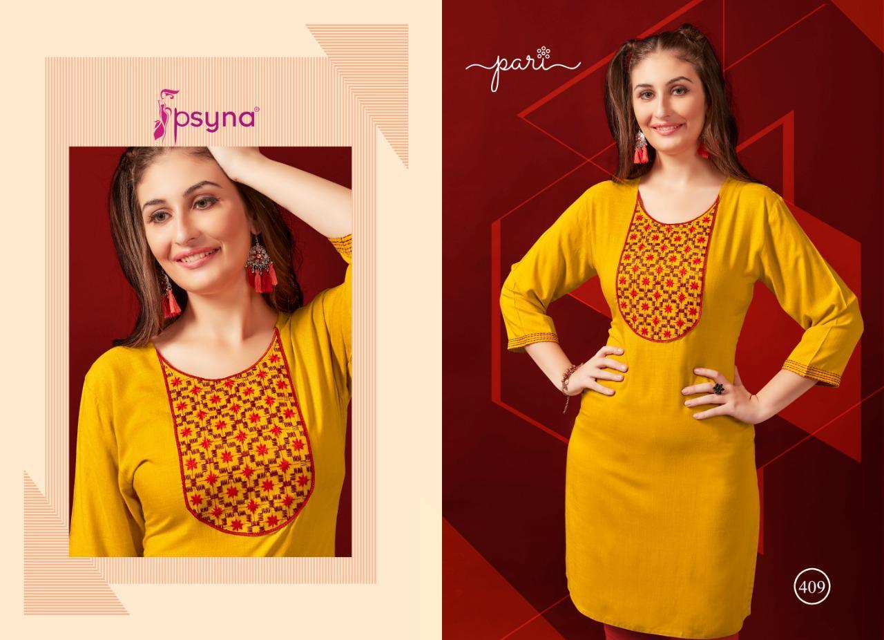 Psyna Pari Vol 4 Designer Rayon Slub Office Wear Kurties Wholesale