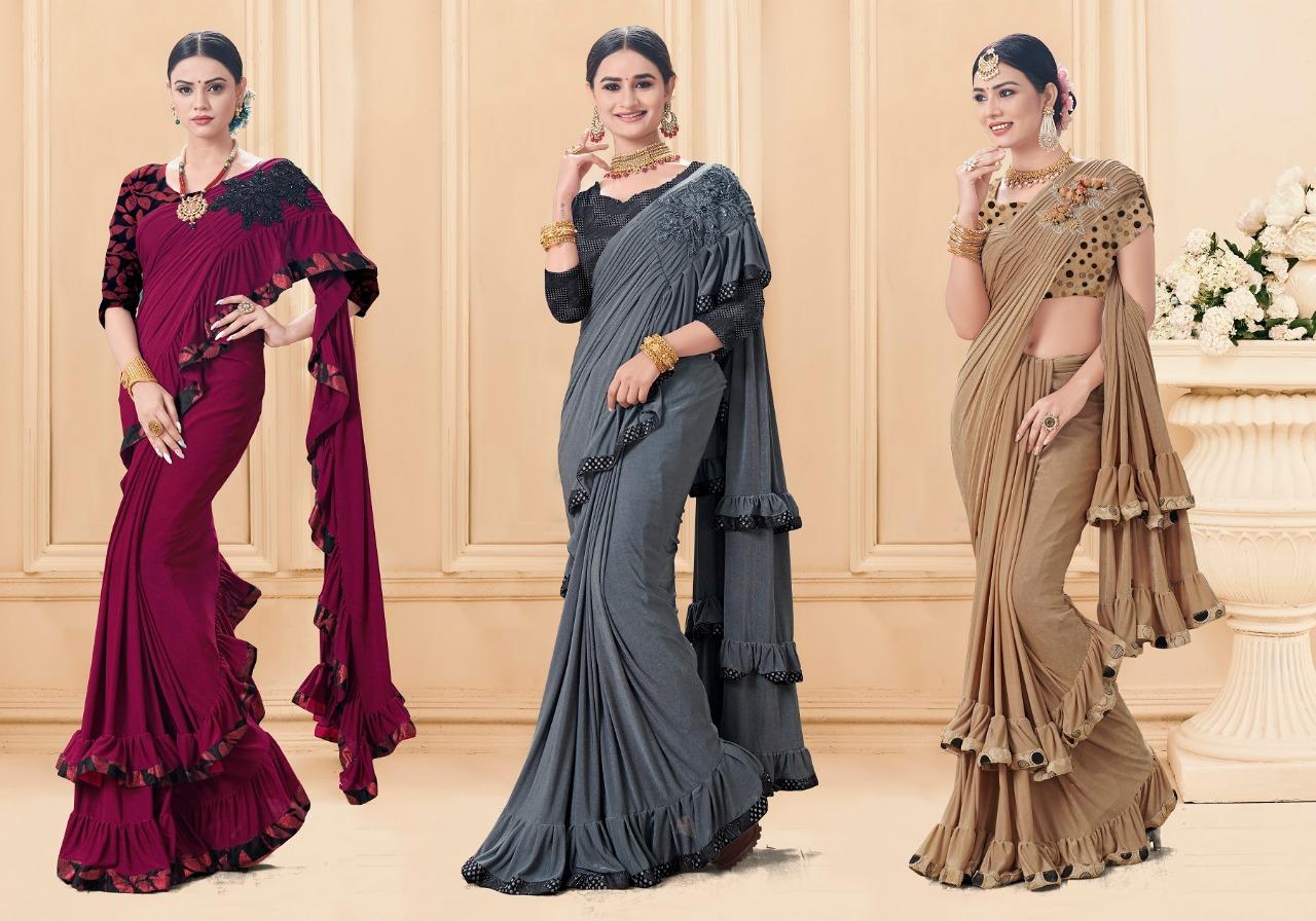 Saroj Saree Rolex Designer Party Wear Heavy Sarees Wholesale