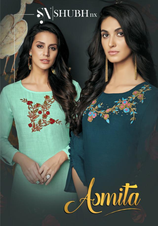 Shubh Nx Asmita Designer Party Wear Kurties Wholesale