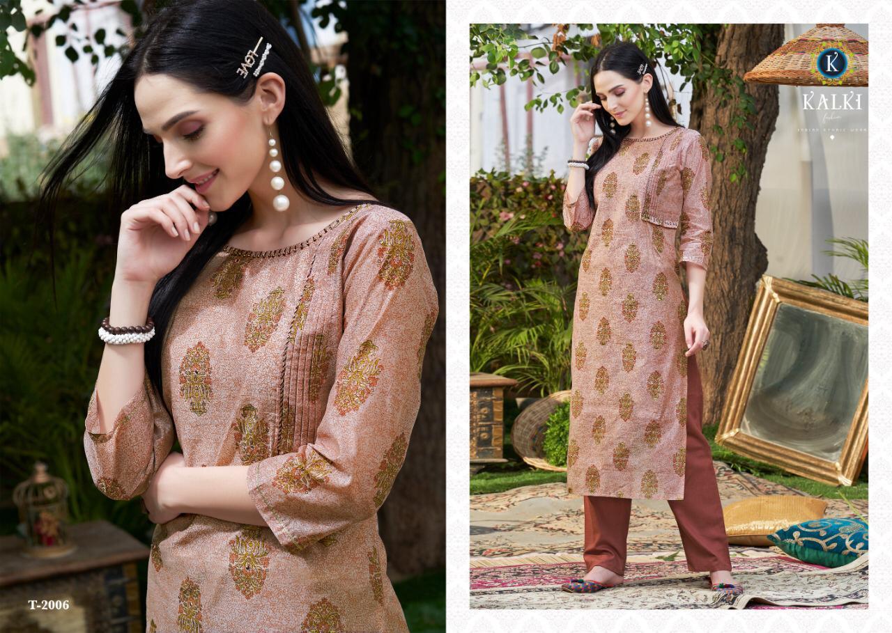Kalki Fashion Maskali Designer Party Wear Kurties In Wholesale Rate
