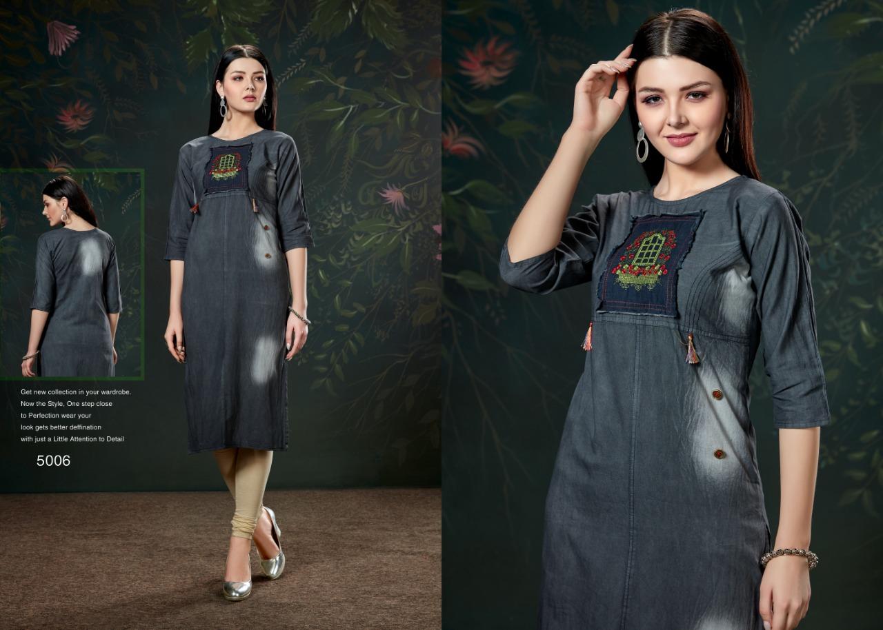 Privaa Chokidar Vol 1 Designer Stylish Denim Kurti Wholesale