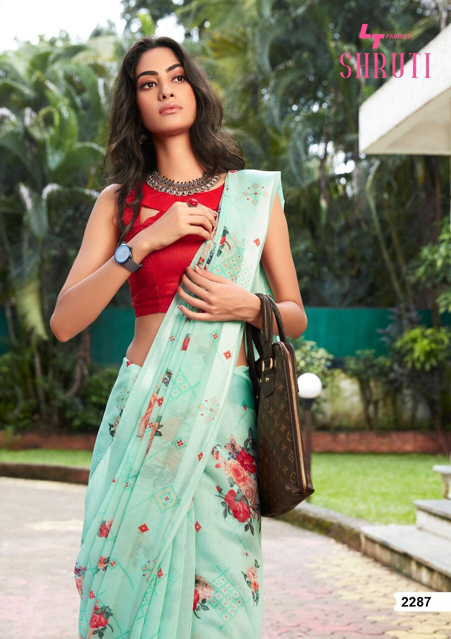 Lt Shruti Designer Soft Linen Designer Sarees Wholesale