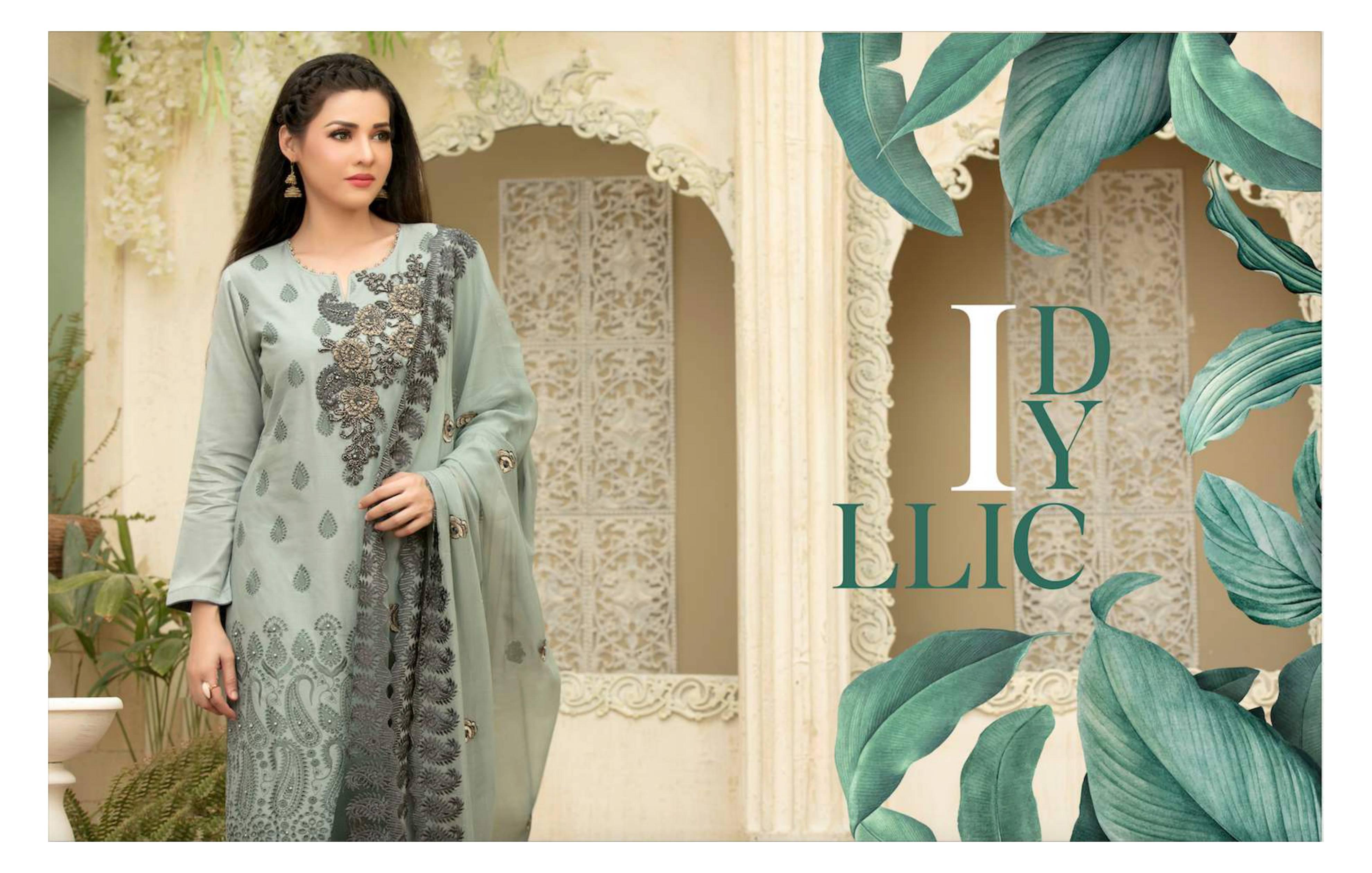 Tawakkal The Art Of Femininity Designer Original Pakistani Embroidery Schiffli Lawn Suits Wholesale Rate