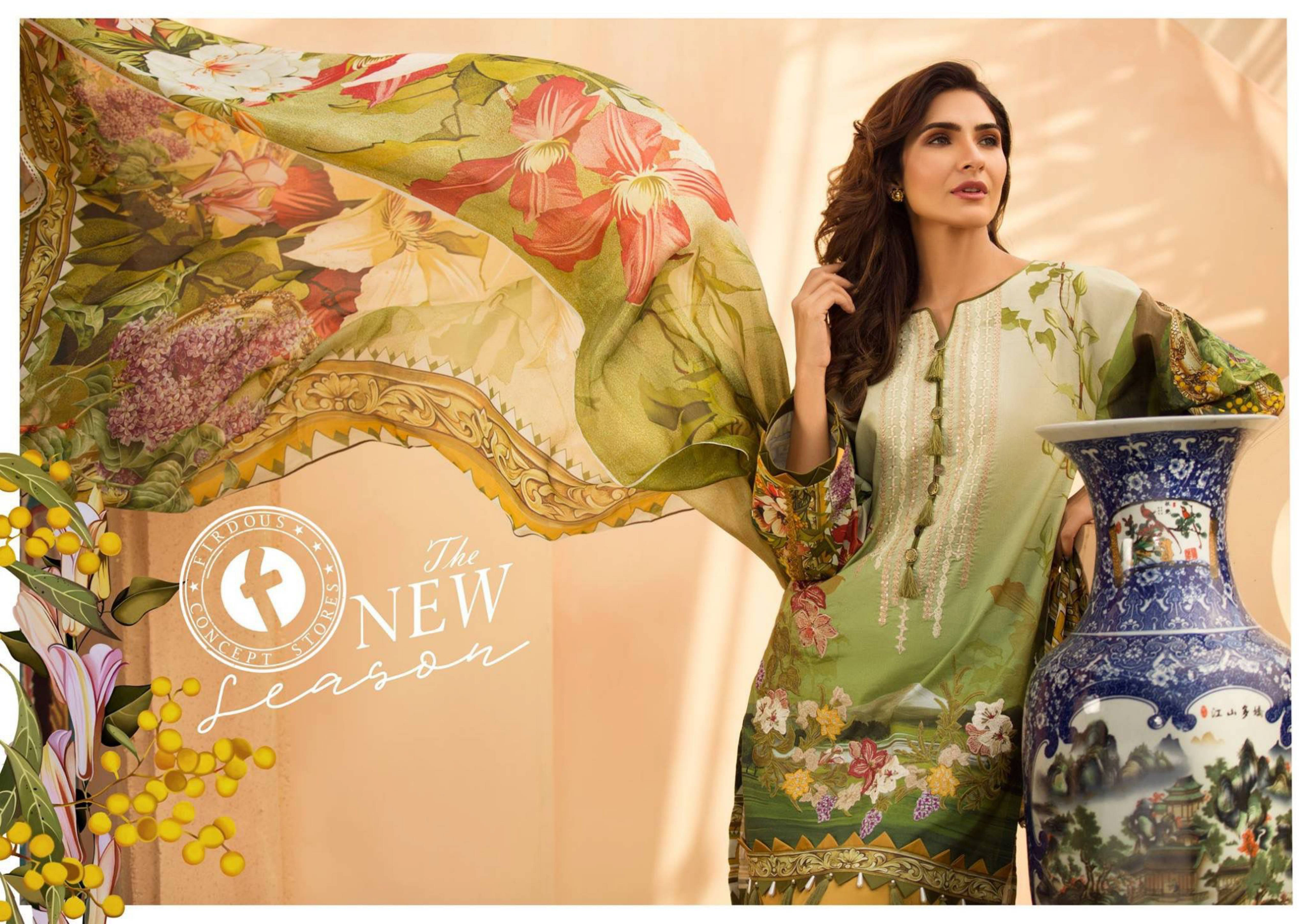 Firdous Exclusive Eid Hit Premium Lawn Embroidered Collection Aaa+ Master Replica Suits Wholesale Rate