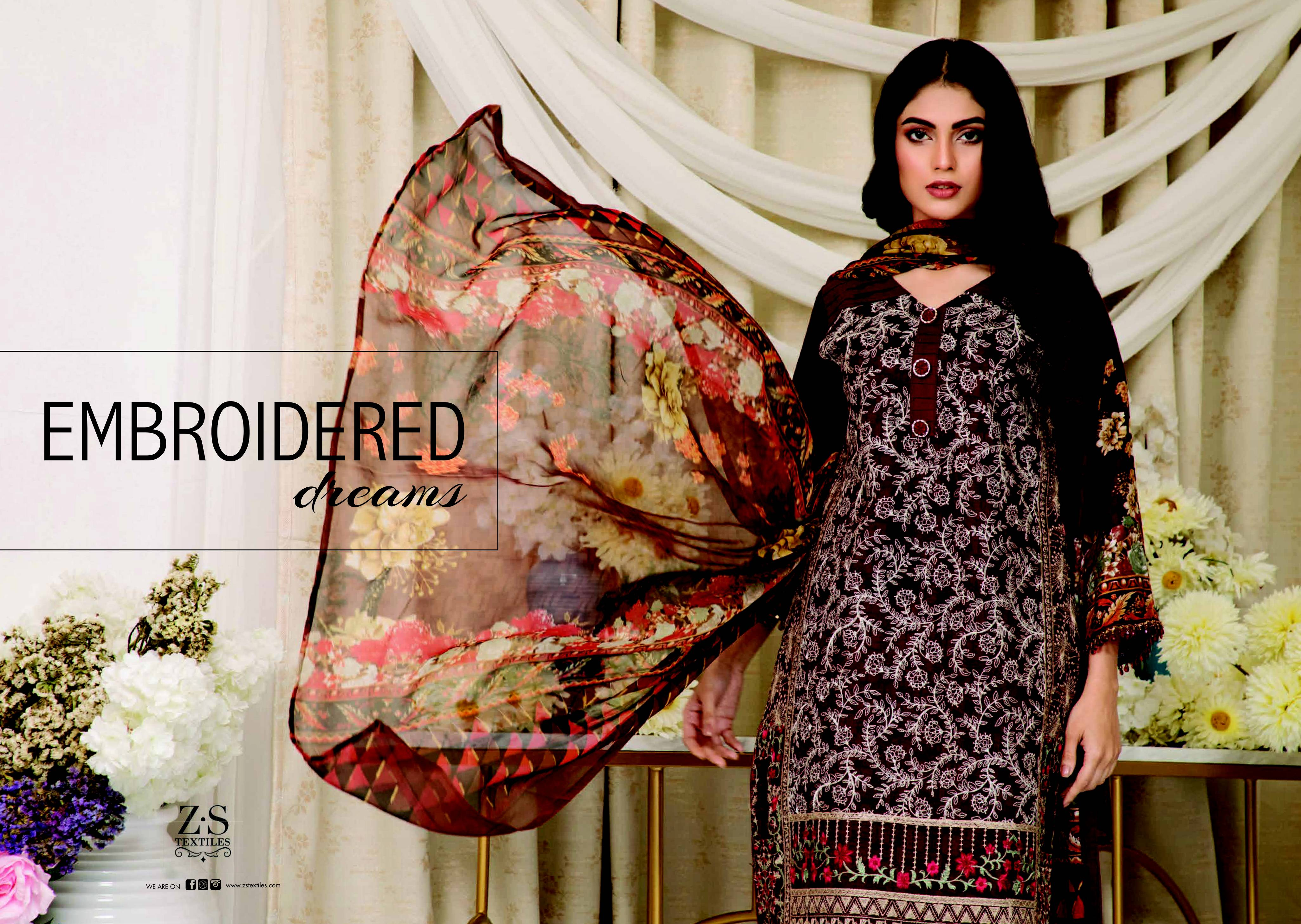 Zs Textiles Sahil Exclusive Embroidered Collection 2019 Designer Original Pakistani Suits In Best Wholesale Rate