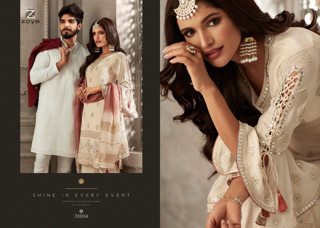 Zoya Patels Designer Georgette Sharara Suits In Best Wholesale Rate