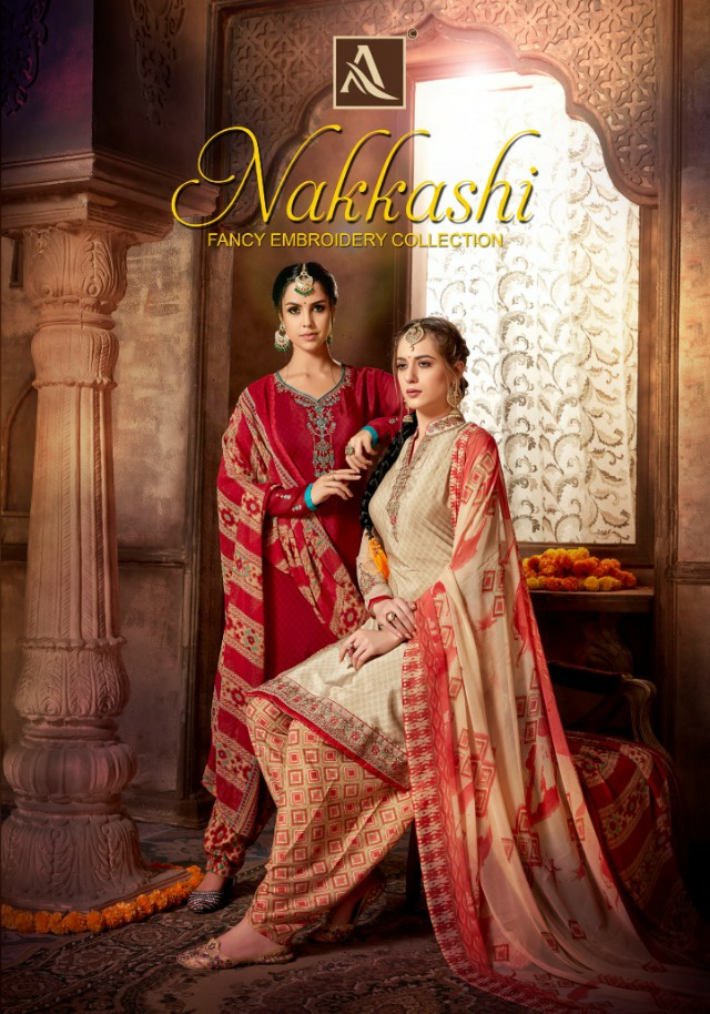 Alok Suits Nakkashi Designer Embroidery With Handwork Suits In Best Wholesale Rate