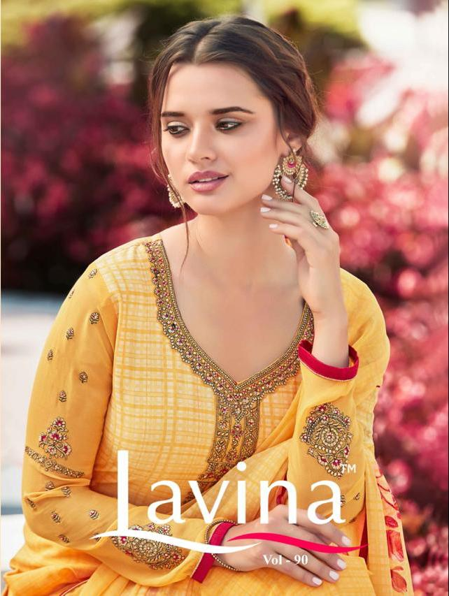Lavina Vol 90 Designer Silk Crepe Suits In Best Wholesale Rate