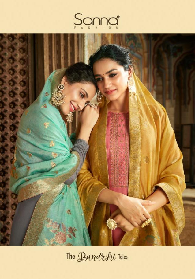 Sanna Banarshi Tales Designer Modal Silk Banarasi Suits In Wholesale Rate