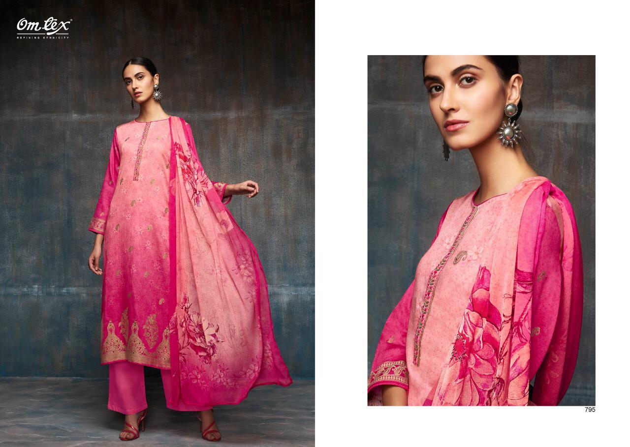 Omtex Affair Designer Cotton Satin Printed Suits Wholesale