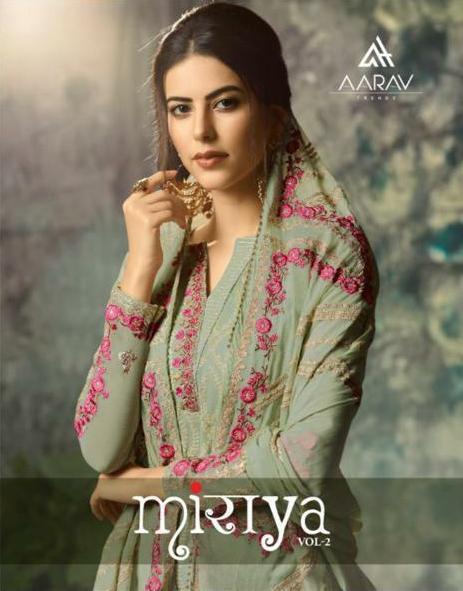 Aarav Trendz Miraya Vol 2 Designer Real Georgette Suits Wholesale