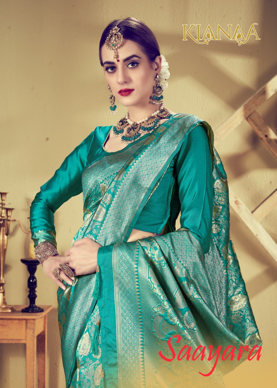 Kianaa Saayara Designer Silk Wedding Wear Sarees Wholesale