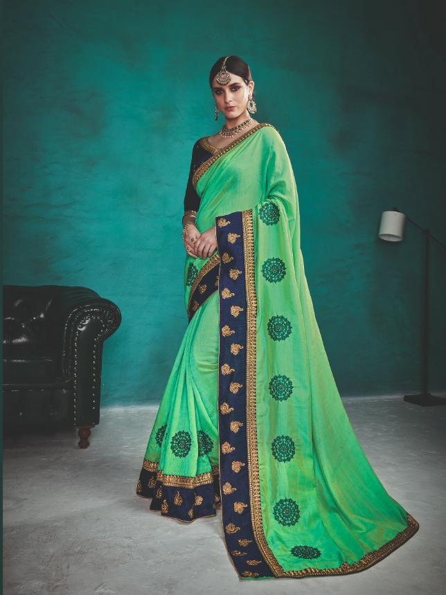 Kalista Aasma 1 Designer Rangoli Silk Partywear Sarees Wholesale