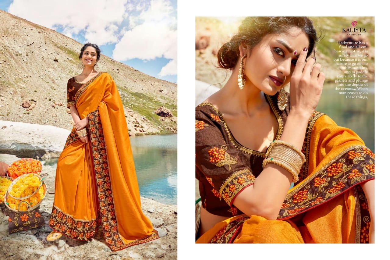 Kalista Fashion Heritage Designer Wedding Wear Sarees Wholesale