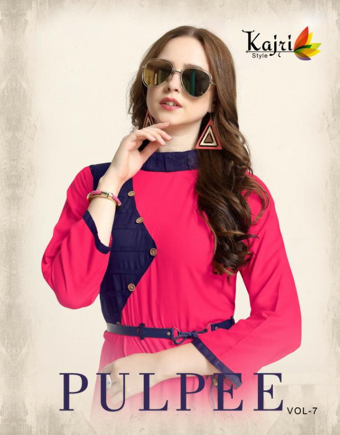 Kajri Pulpee Vol 7 Designer Heavy Rayon Stitch Gowns Wholesale