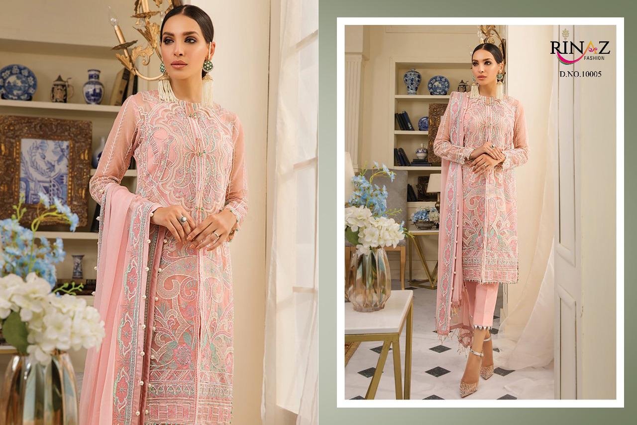 Rinaz Fashion Gulal Designer Embroidered Pakistani Replica Suits Wholesale