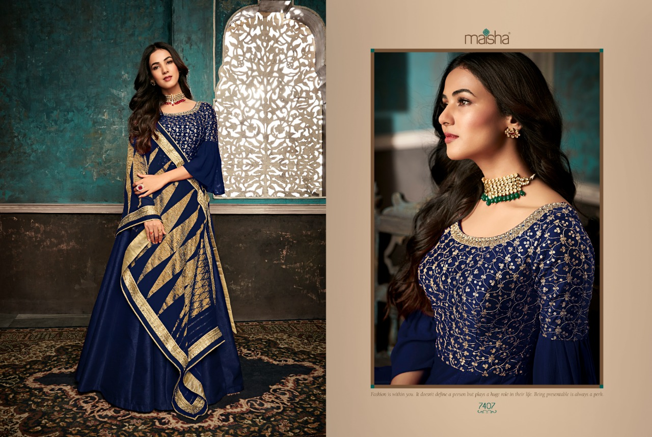 Maisha Maskeen Sazia Designer Silk Partywaer Suits In Wholesale Rate