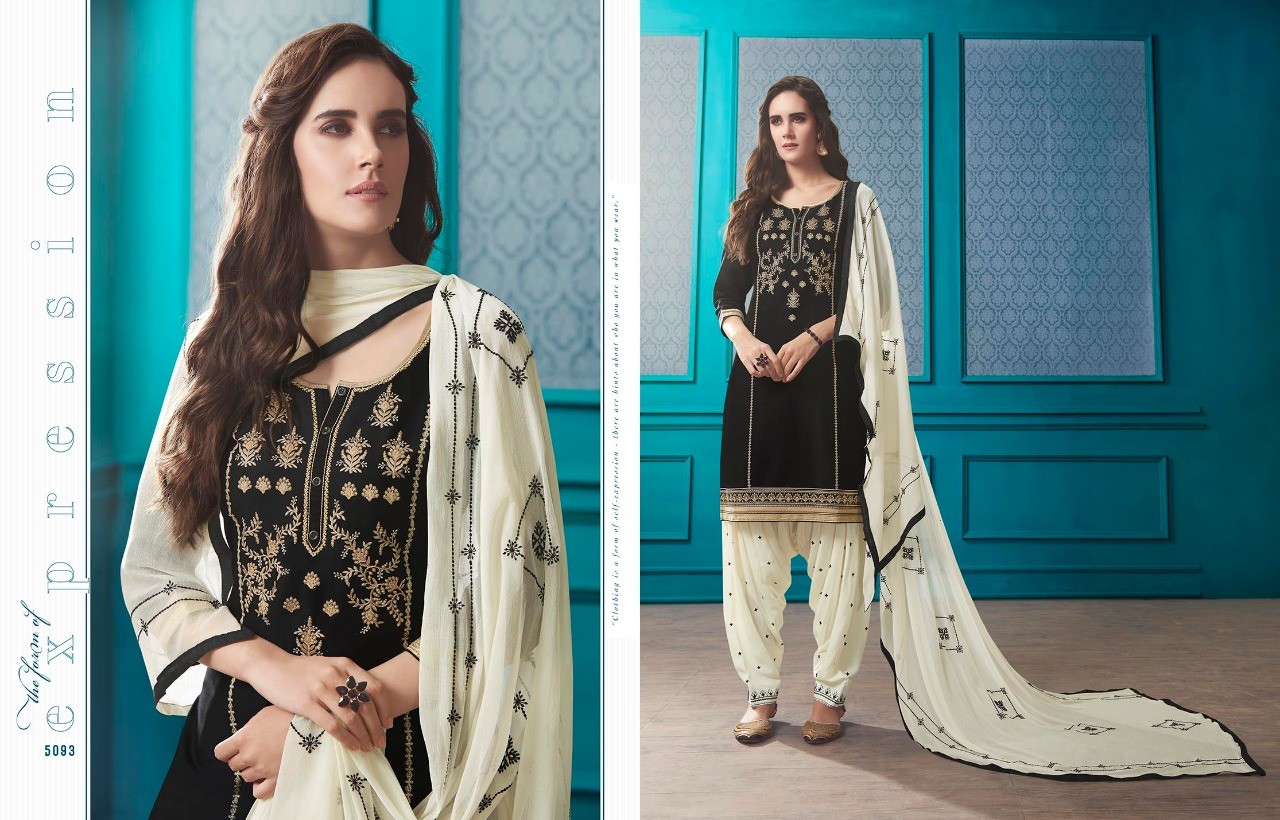 Kessi Patiala House Vol 72 Designer Cotton Satin With Embroidered Suits In Wholesale Rate