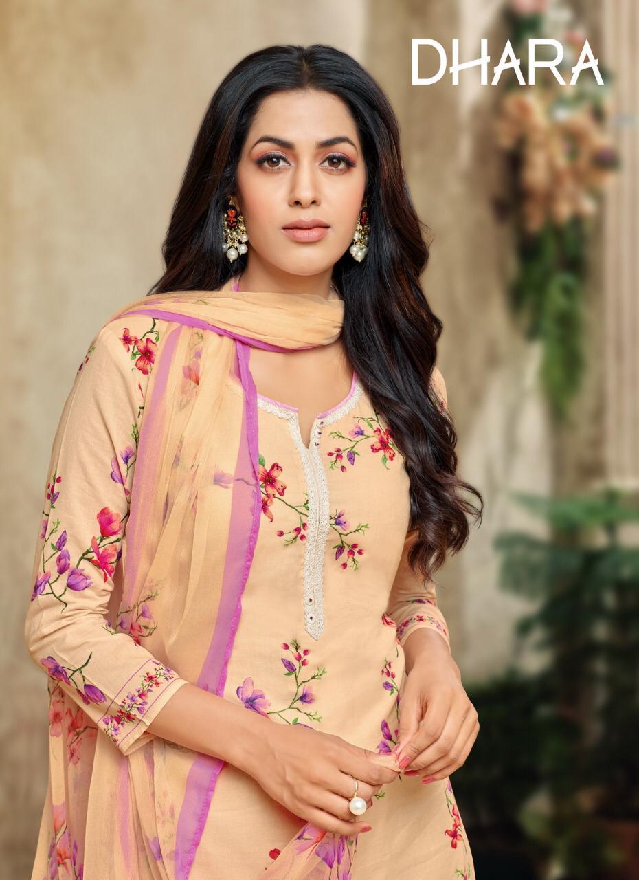 Dhara Designer Jam Silk Printed Daily Wear Suits In Wholesale Rate