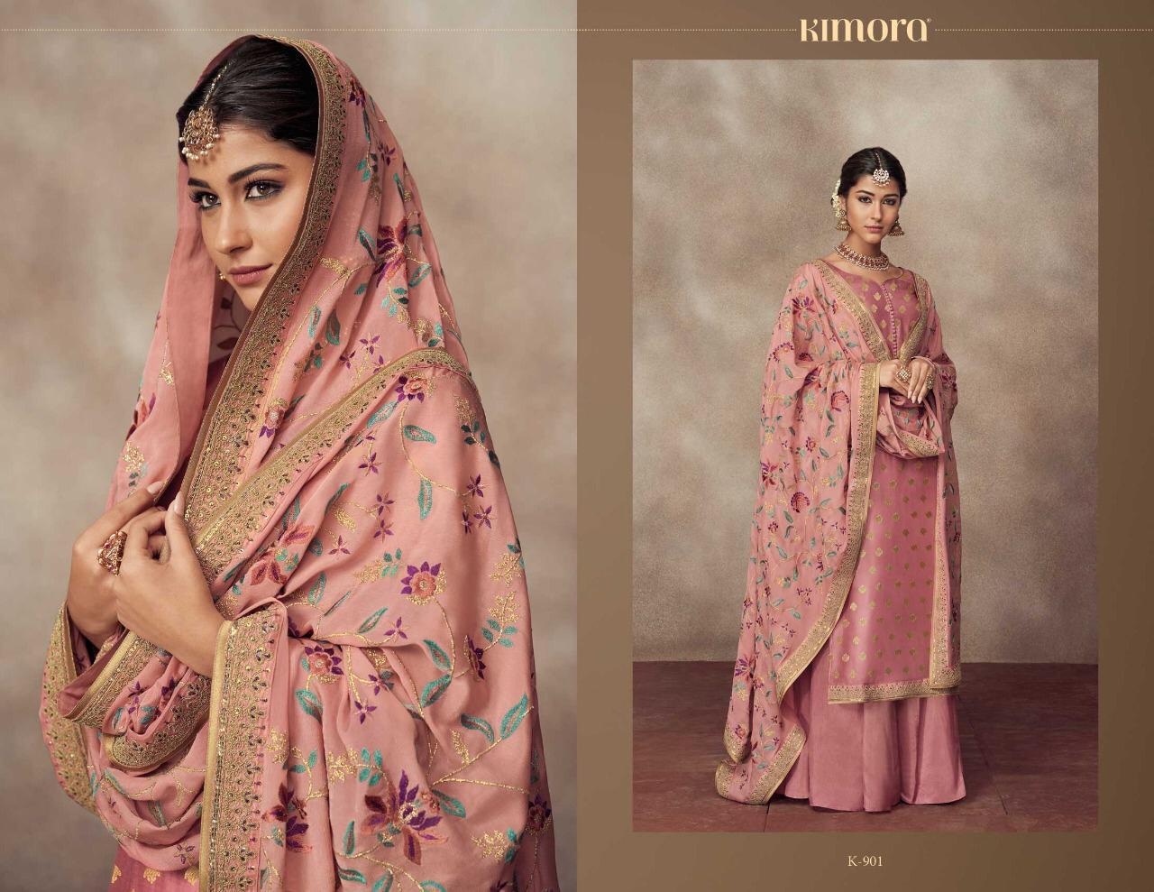 Kimora Vol 9 Designer Dola Silk Jacquard Suits In Wholesale Rate