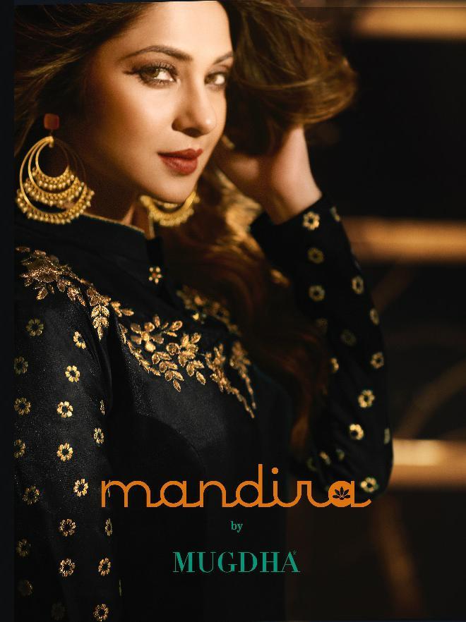Mugdha Mandira Designer Partywaer & Wedding Wear Heavy Suits Wholesale
