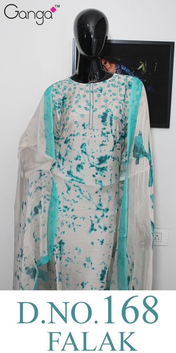 Ganga Falak 168 Designer Bemberg Silk Printed Suits In Wholesale Rate