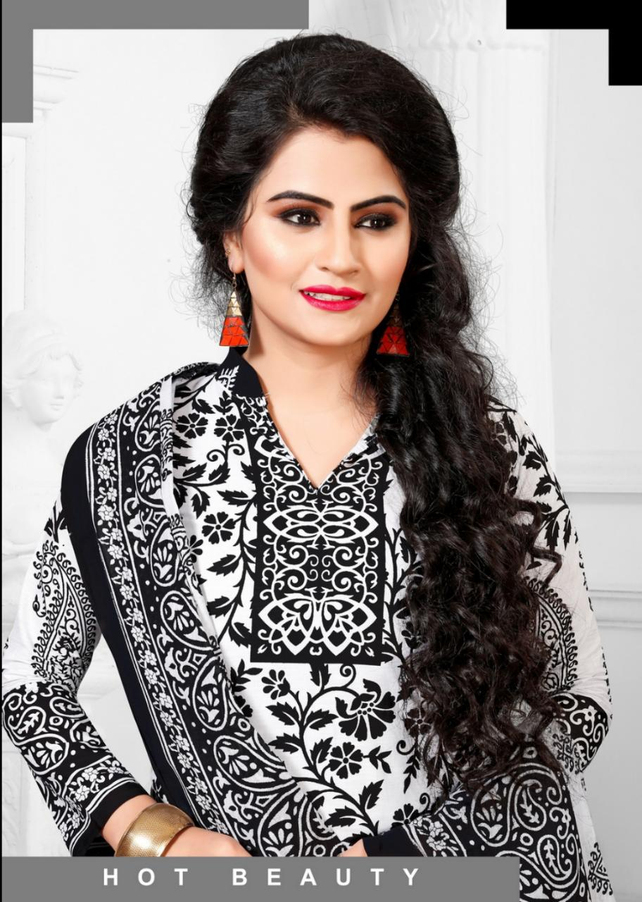 Muharram Special Black And White Designer Cotton Suits In Wholesale Rate
