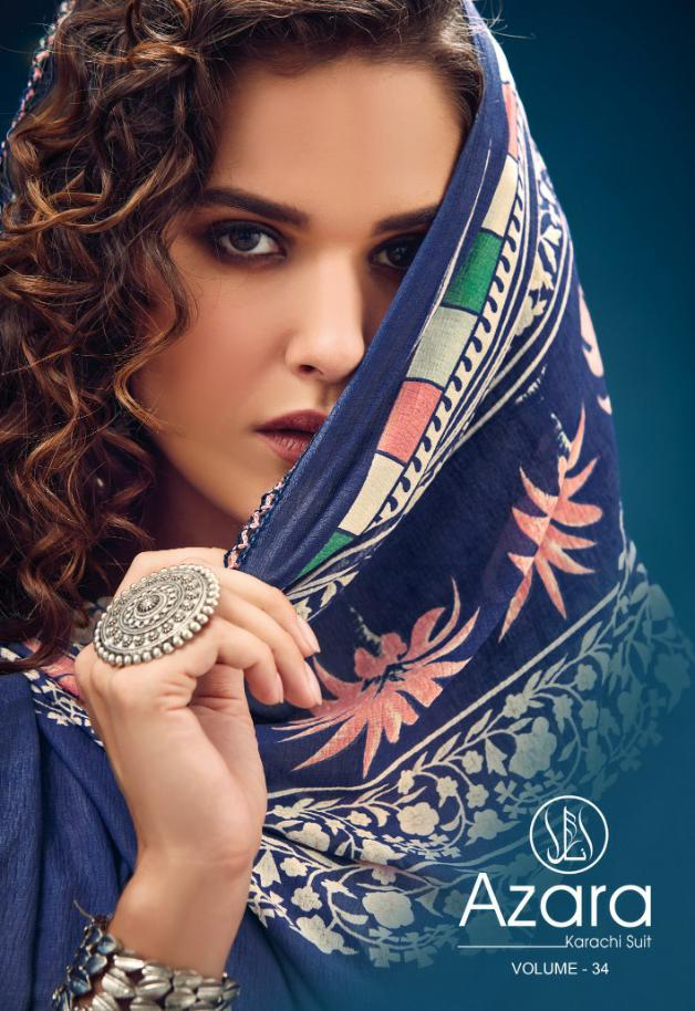Radhika Azara Vol 34 Designer Pure Cambric Printed Karachi Suits Wholesale
