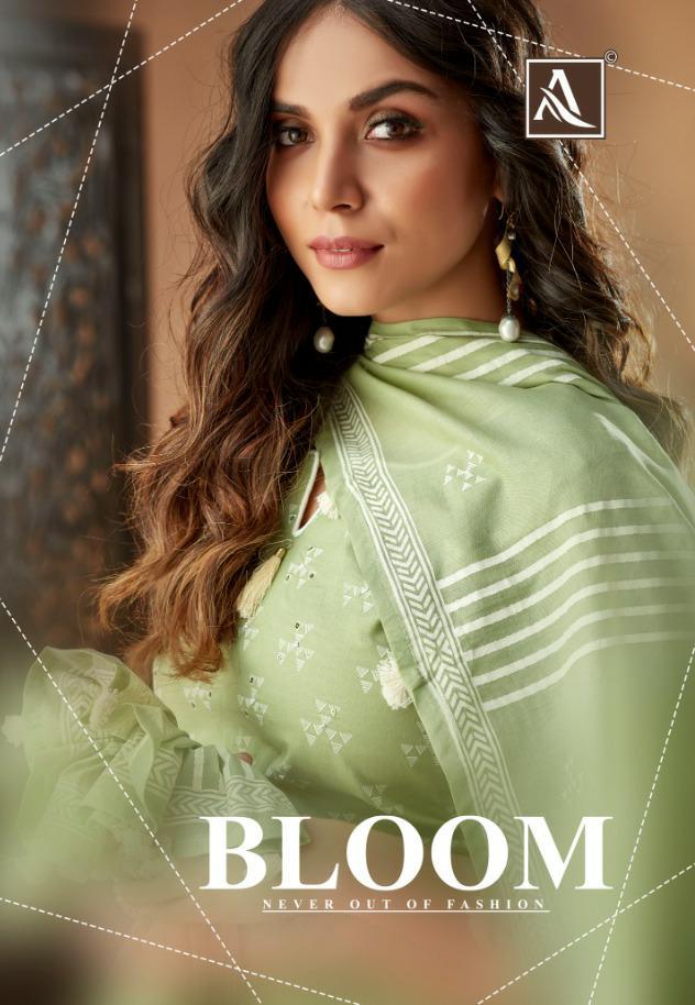 Alok Suit Bloom Designer Cambric Fancy Printed Suits Wholesale