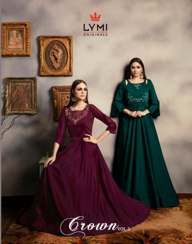 Kessi Crown Vol 3 Designer Embroidered Partywear Gowns In Wholesale Rate