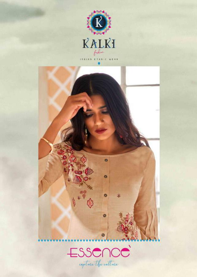 Kalki Fashion Essence Designer Embroidered With Cotton Stitch Stylish Kurties Wholesale