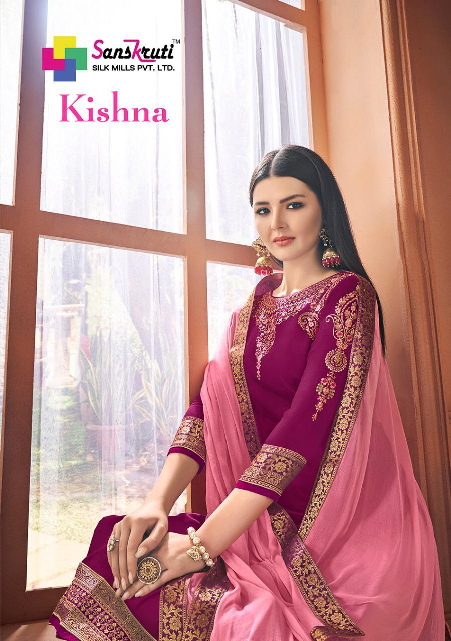 Sanskruti Silk Mills Kishna Designer Handwork & Embroidered Suits Wholesale