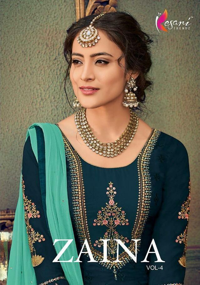 Kesari Trendz Zaina Vol 4 Designer Brasso Suits In Wholesale Rate