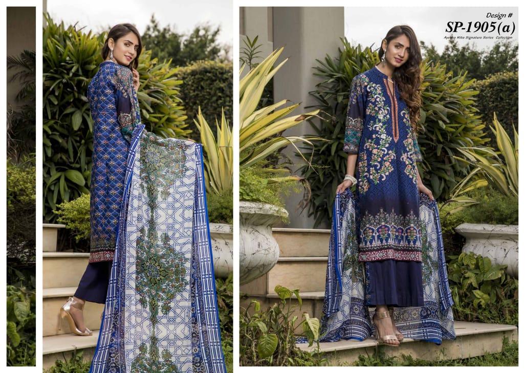 Moosajee Ayesha Hiba Signature Series Designer Embroidered & Printed Suits Wholesale