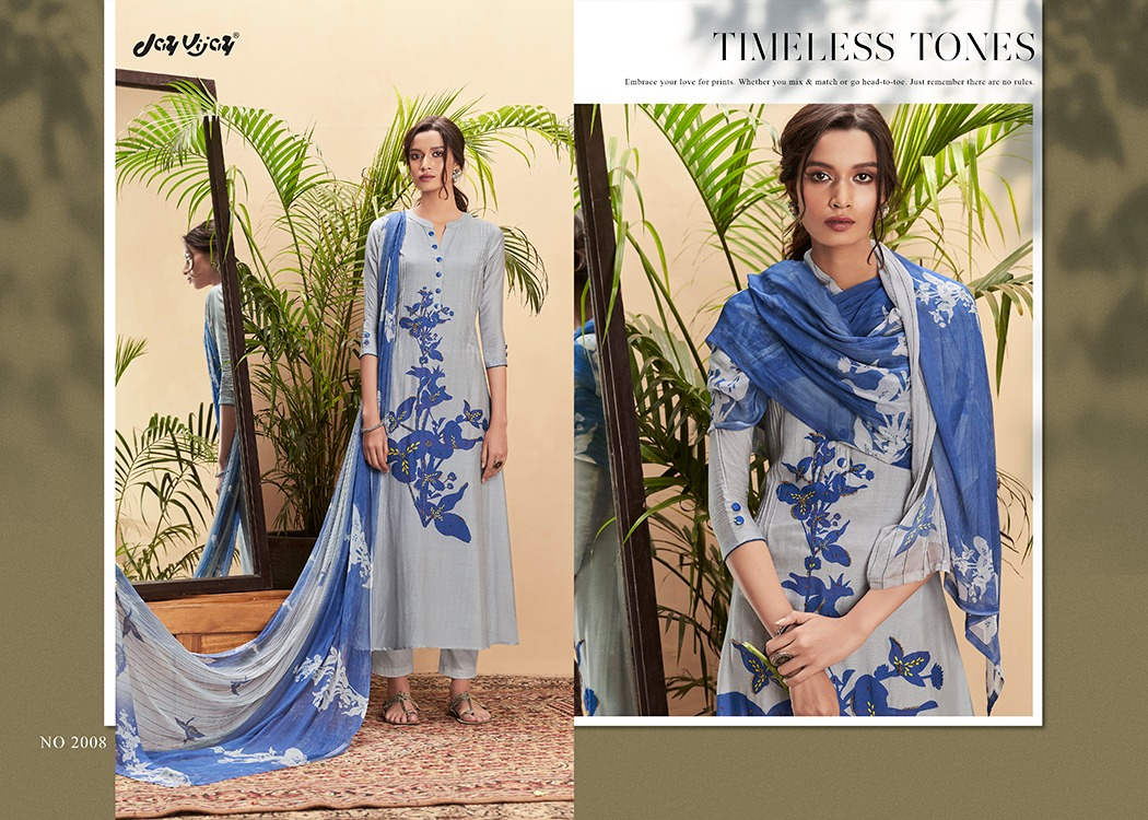 Jay Vijay Seher Designer Cotton Silk Printed With Handwork Suits Wholesale