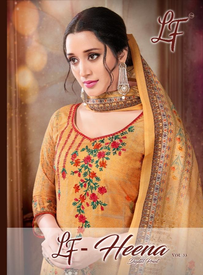 Lavli Fashion Heena Vol 33  Designer Embroidery Work Muslin Cotton Suits Wholesale