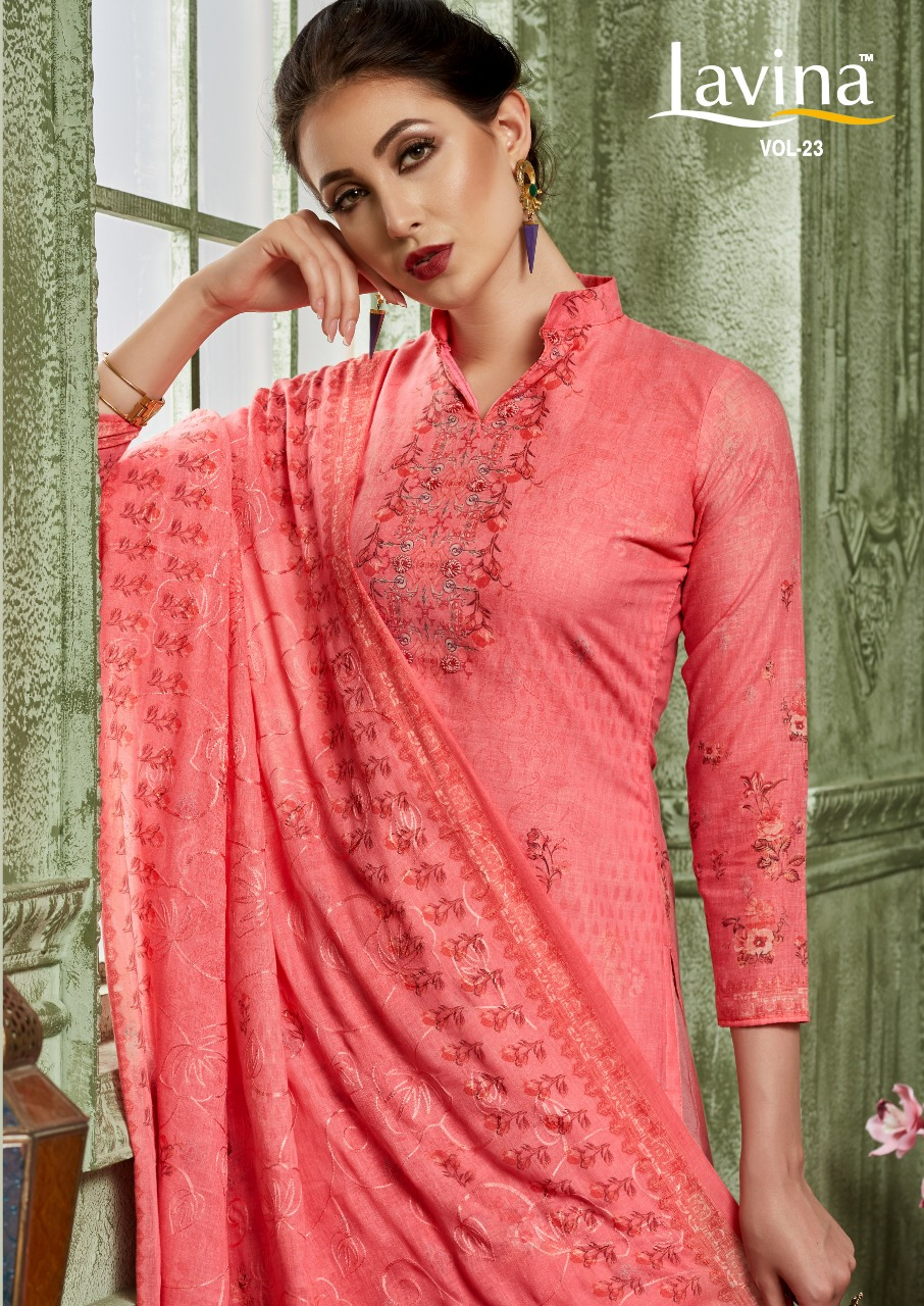 Lavina Vol 23 Designer Cotton Printed Suits Wholesale