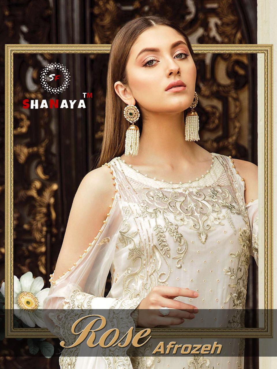 Shanaya Rose Afrozeh Designer Faux Georgette Partywear Pakistani Suits Wholesale
