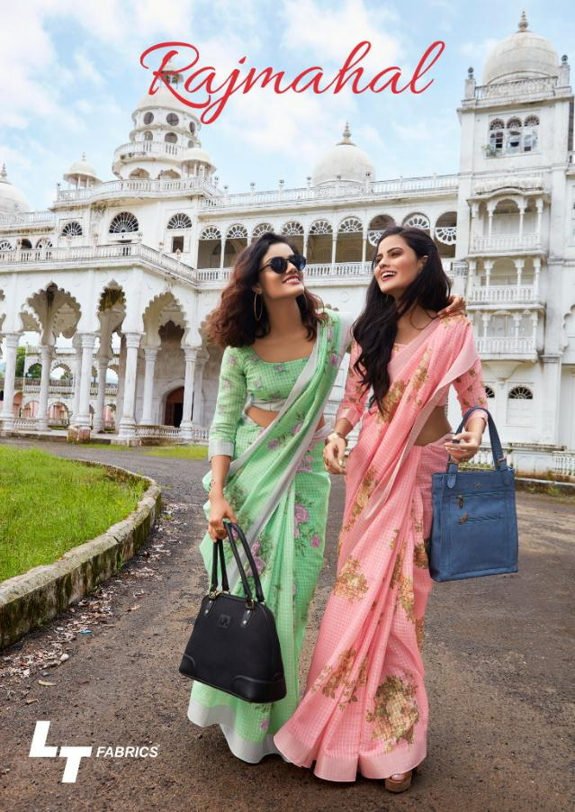 Lt Rajmahal Designer Linen Printed Sarees Wholesale