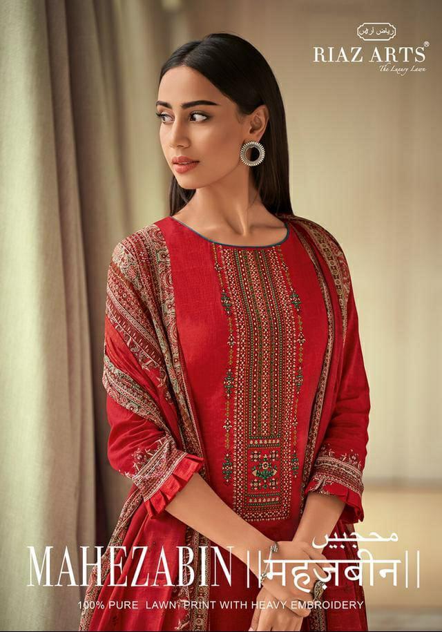 Mumtaz Arts Mahezabin Designer Barik Embrodery Suits Wholesale