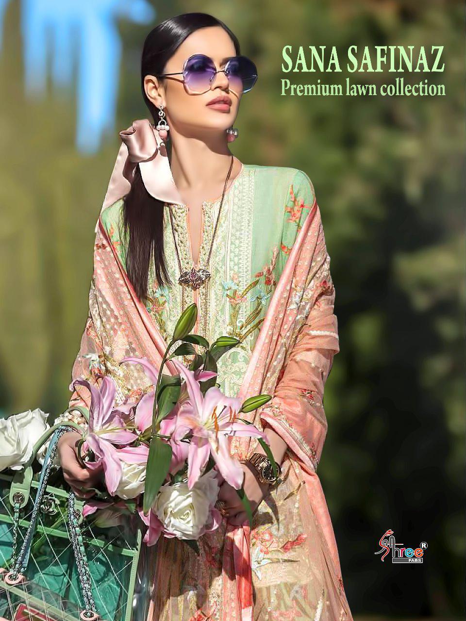 Shree Fab Sana Safinaz Premium Lawn Collection 5101 Series Designer Pakistani Suits Wholesale