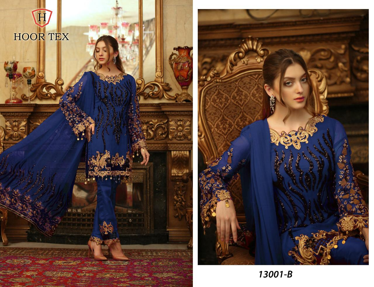 Hoor Tex Nafiya Vol 4 Designer Heavy Georgette Partywear Pakistani Suits Wholesale