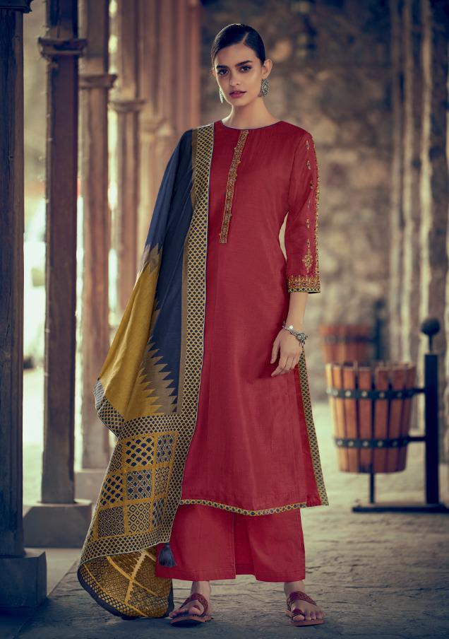 Varsha Kaatha Vol 2 Designer Embroidery With Kora Silk Suits Wholesale