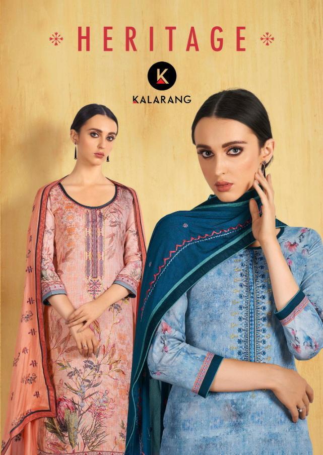 Kalarang Heritage Jam Silk Digital Printed Suits In Wholesale Rate