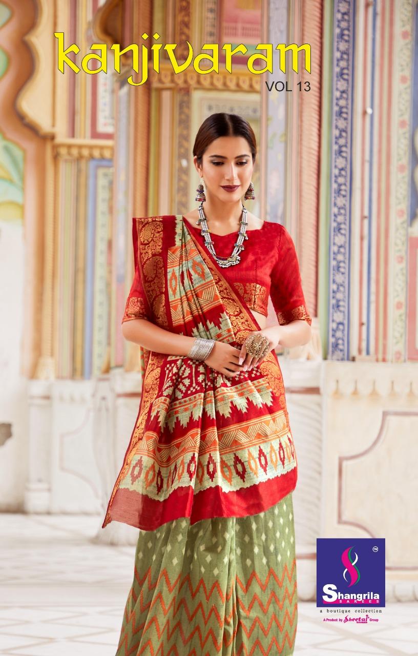 Shangrila Kanjivaram Silk Vol 13 Designer Silk Sarees Wholesale