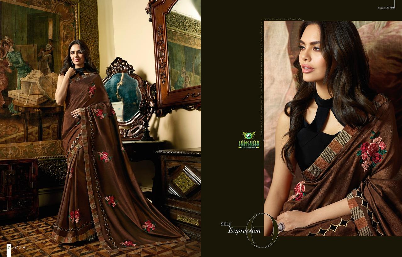 Sanskar Esha Vol 3 Designer Fancy Partywear Sarees Wholesale