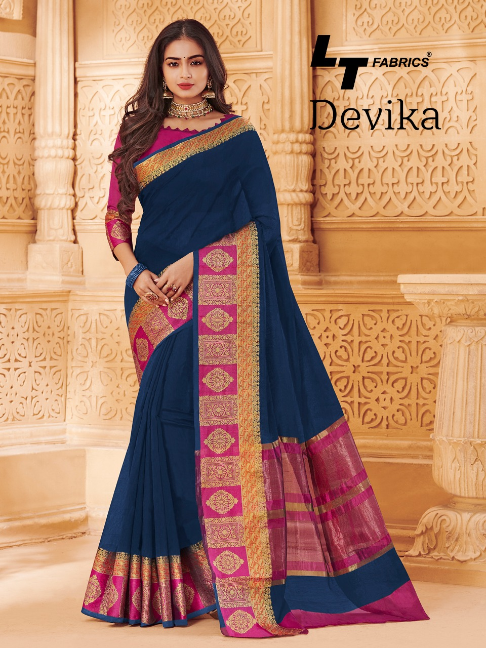 Lt Devika Designer Cotton Silk Saree Wholesale