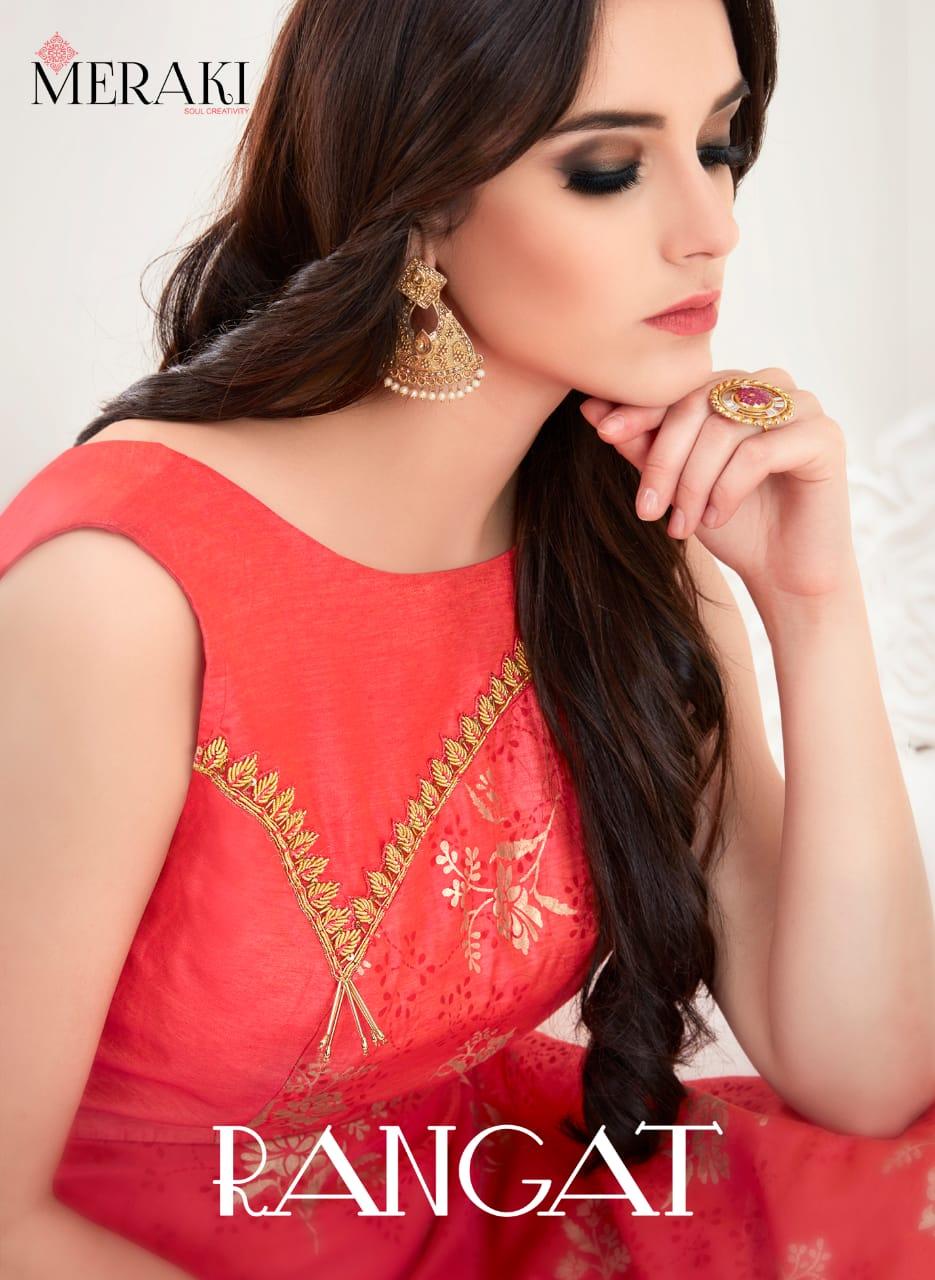 Meraki Rangat Designer Wedding Wear Gowns Wholesale