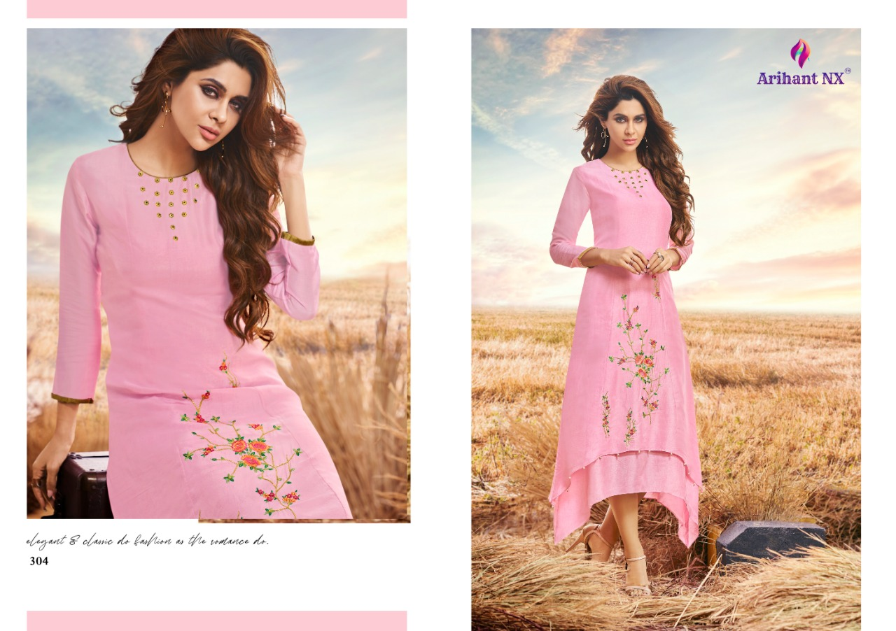 Arihant Nx Vamika Designer Western Kurties Collection Wholesale