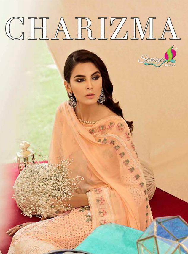 Saniya Trendz Charizma Vol 2 Designer Embroidery Heavy Cotton Pakistani Suits Wholesale
